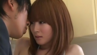 Double Dick Pleasing With Miku Ohashi Who Receives A Messy Facial
