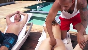 Intense Outdoor Double Trouble With Kagney Linn Karter,