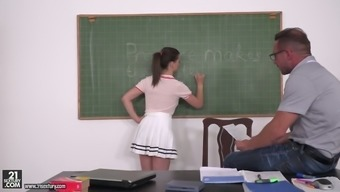 Cute Chick Gabriella Lati Is Double Penetrated By College Fellow And Kinky Teacher