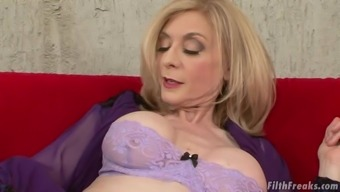 Mature Lady Nina Hartley Is Curious About A Hunk'S Fat Cock