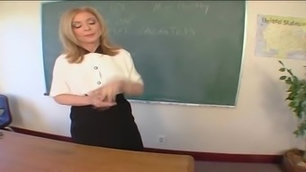 Mature Teacher Nina Hartley Bends Over A Desk For A Fuck