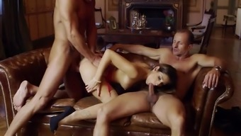 Clea Gaultier Severe Sex With Two Older Males