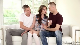 Adorable Hottie Chelsey Sun Gets Intimate With A Duo Of Bisexual Guys