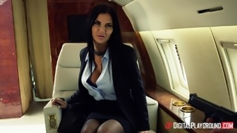 Jasmine Jae Fucked Hard By A Handsome Man On An Airplane
