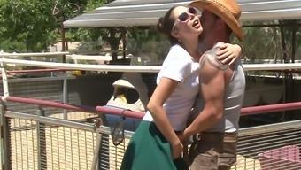 Gorgeous Blond Mommy Alana Evans Watched Kinky Slutty Gf Sucking Brutal Cowboy Off