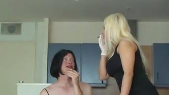Smoking  With My  Slut !