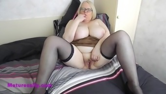 Sally With Two Figures Inside Her Pussy