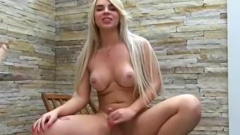Sexy Shemale Carol Penelope Masturbates