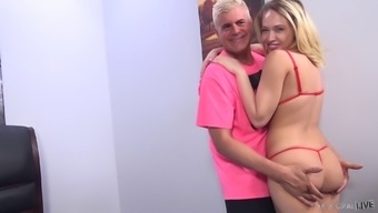 Pussy Drilling With Cumshot With Kagney Linn Karter And Porno Dan