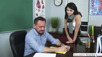 Hypnotically Sexy Adria Rae Offered Sex To Her Teacher For Good Grades