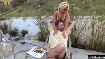 Sexy Blonde Milf With Big Boobs, Jenny Lopez, Gets It On With Her Man