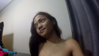 Charming Nice Brunette Teen Shows Off Her Small Asian Tits And Ass