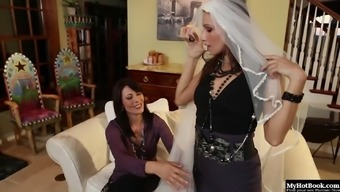 Celeste Star Was Trying On Some Wedding Gear And Zoey Holloway Was Helping Her.