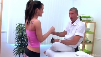 Yummy Brunette Julia Stone Is Fucked By Horny Well Endowed Stud