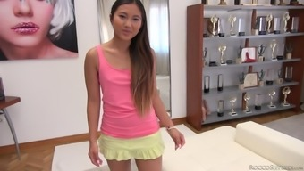 Asian Cutie With A Pierced Pussy May Thai Gets Double Penetrated