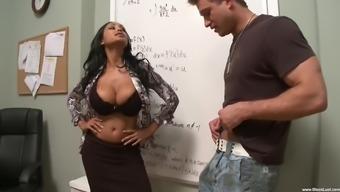 Lusty Teacher Priya Rai Gets Penetrated By Her Student'S Hard Shaft
