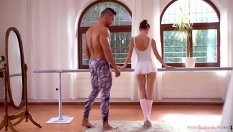 Cute All Natural Ballerina Gina Gerson Gets Nailed From Behind In Dance Room