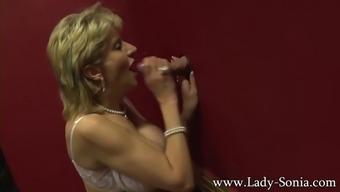 Big Tit British Mature Lady Sonia Visits A Gloryhole