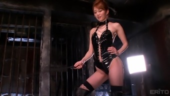 Alluring Miku Ohashi Wearing Leather And Having Fun With Her Lover