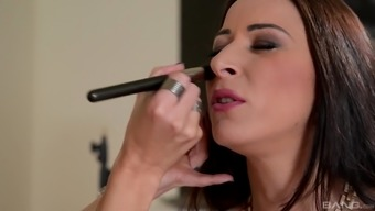 Martina Gold Spreads Her Legs For A Man'S Engorged Penis