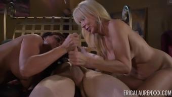 Nasty Cock-Suckers Claudia Valentine And Erica Lauren In A Threeway