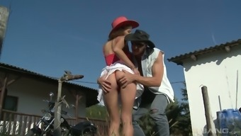 Village Whore Jenny Gets Laid Right On The Lawn In Broad Daylight