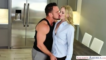 Luscious Blonde Riley Reyes Rides A Dick And Gets Her Pussy Fucked Doggy Style