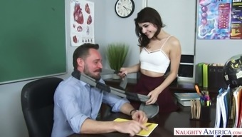 Kinky And Whorish Secretary Adria Rae Spreads Legs In Front Of Her Boss