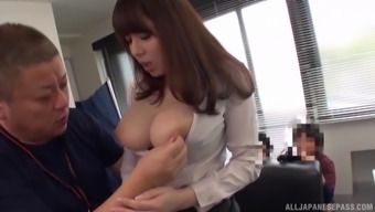 Large-Breasted Mishima Natsuko Grabbed And Fucked At The Office