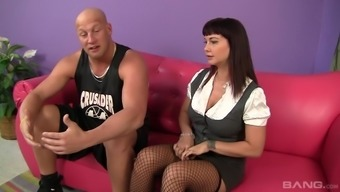 Bald Guy Talks Hot Carrie Ann Into Pleasing His Delicious Dick