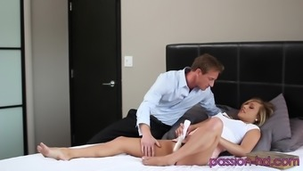 Bending Kennedy Leigh Over For Some Passionate Pussy Fucking