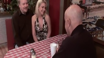 Chick In A Restaurant Fucked In Front Of Her Horny Lover