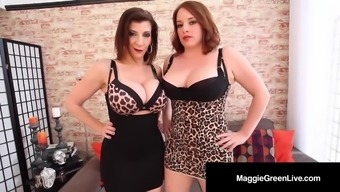 Scissor Fuckers Maggie Green & Sara Jay Fondle Tits & More!
