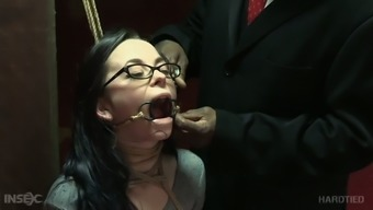 Pallid Lady Ivy Addams Gets Tied Up And Crucified By Her Dominant Bastard