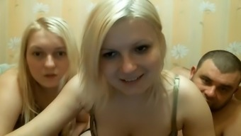 Hot Threesome On The Webcam Show