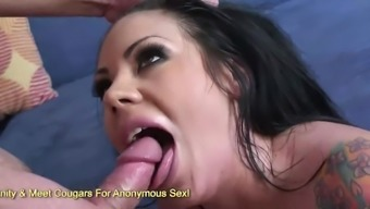Busty Brunette Mason Moore Devouring Dick And Jumping On It