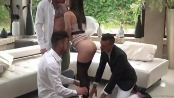 Crazy And Hardcore Gangbang Is Everything Lilu Moon Desires Every Day