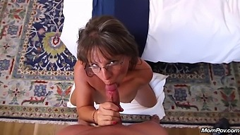Busty Mature, Carry Ann Got Lots Of Cum On Face After A Hardcore Fuck Session