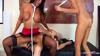 Rough Lesbian Strapon Group Sex With 5 Milf Pornstars With Angel Long, Shyla Stylez And Puma Swede