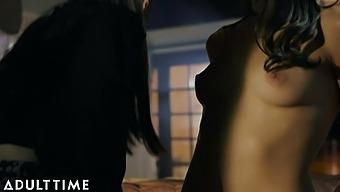 Natalie Mars Surprises Emily Willis With Her Cock