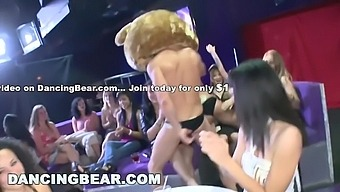 Room Full Of Diverse Women Sucking Big Cocks Left And Right - Left Right