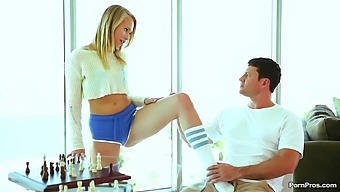 Dakota James Wearing Stockings Rides A Dick In Reverse Cowgirl
