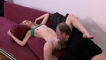After Sucking A Young Cock, The Old Woman Rides His Cock