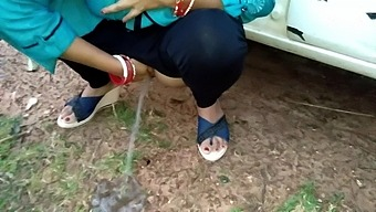 Wife Outdoor Pissing And Fucked By Stranger In Wood