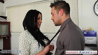 Audrey Bitoni And Johnny Castle Have Crazy Sex Right On The Office Table