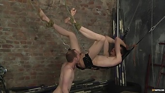 Gay Man Gets Tied Up And Fucked In Tight Ass By A Dominant Perv