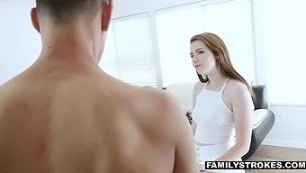 Spoiled Stepdaughter Karlie Brooks Rides Cock Near The Sleeping Milf