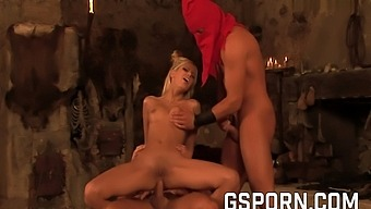 Hot Blonde Milf Princess Need Two Rough Cock To Fuck Her Holes