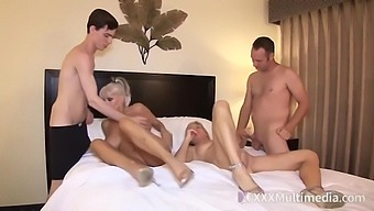 Slutty Matures Are Having Group Sex In A Hotel Room, With