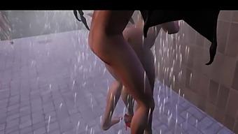 3d Succubus Seduces In Shower